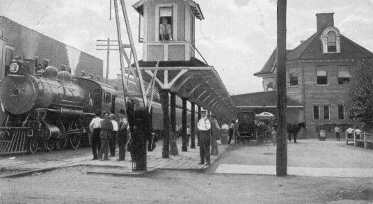 Train at Ashland, KY used to move troops